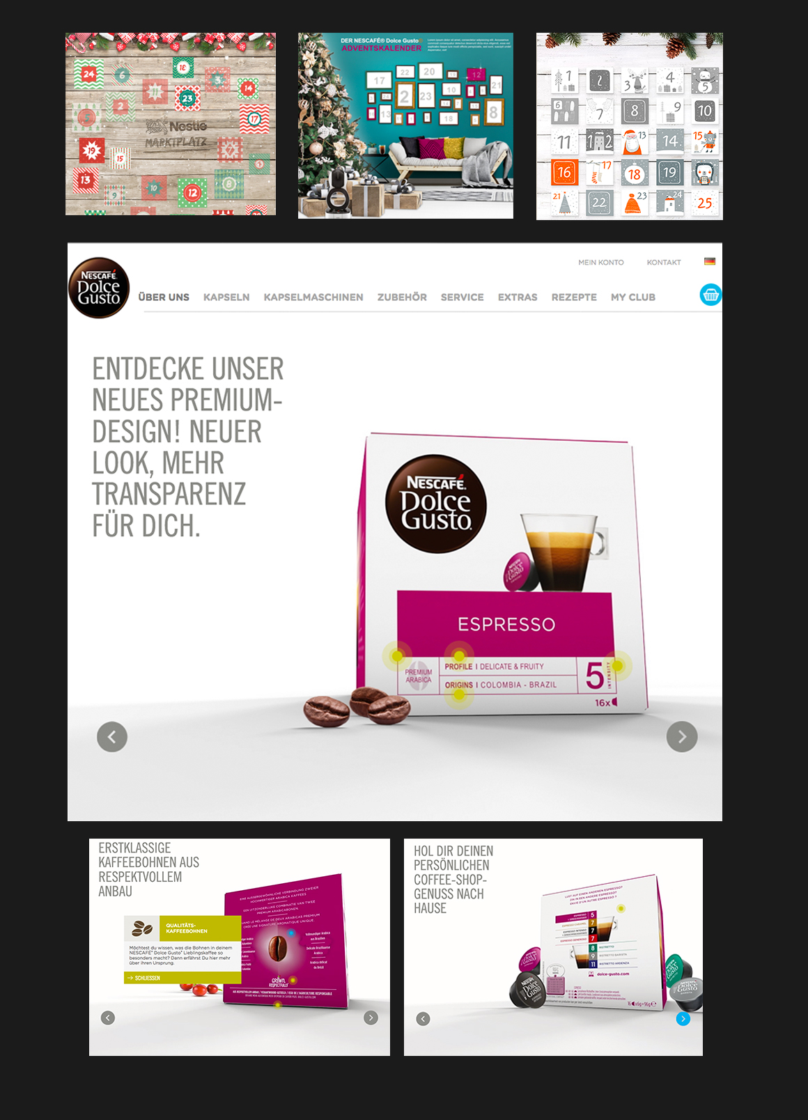 Portfolio Dolce Gusto Landing Pages