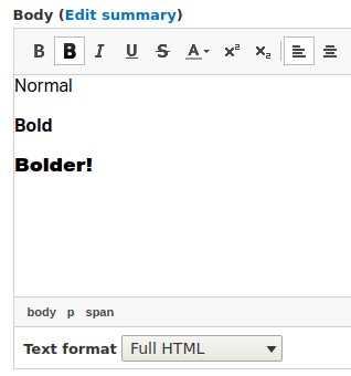 Bolder ckeditor plugin working example